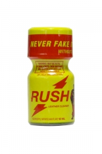 Poppers Rush 10 ml : Avec son flacon jaune, on le reconnait entre tous: Poppers Rush, exigez l'original!